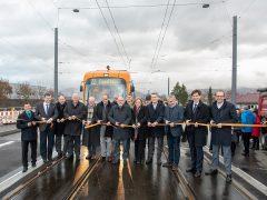 Feierliche Inbetriebnahme der neuen Strecken durch die Bahnstadt und über die Autobahnbrücke nach Eppelheim