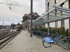 NextBikes nun auch am OEG-Bahnhof